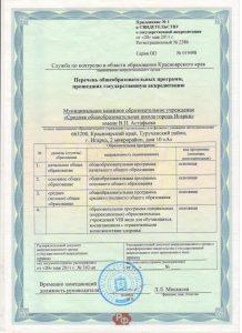 прилож к лицензии 2011 года